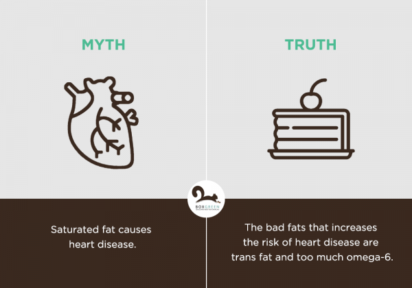 Food myth: Saturated fat causes heart disease.