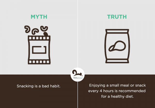 Food myth: Snacking is a bad habit