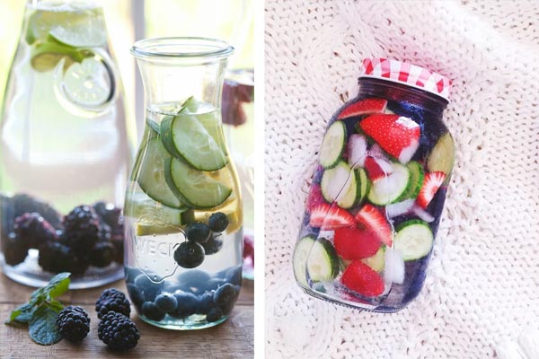 berries infused water