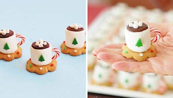 Christmas cookie cups recipe