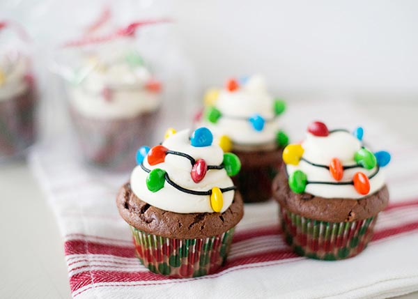 Christmas Lights Cupcake